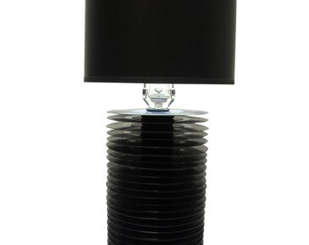 Black 45 Reclaimed Record Table Lamp