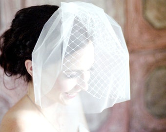 Double Layer Birdcage Merrywidow Tulle Veil