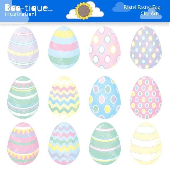 Easter Eggs Clipart Clip Art For Instant Download Pastel Egg Colours Spring