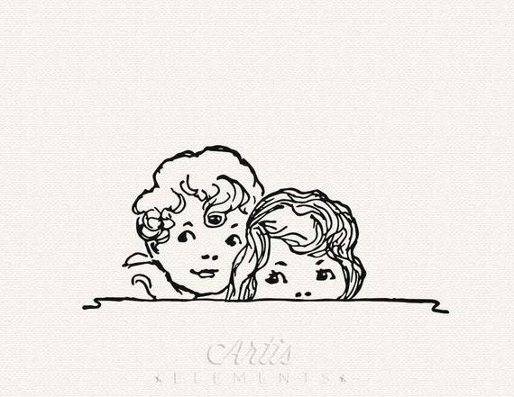 Girl Peeking Clipart Boy And Girl Peeking Png