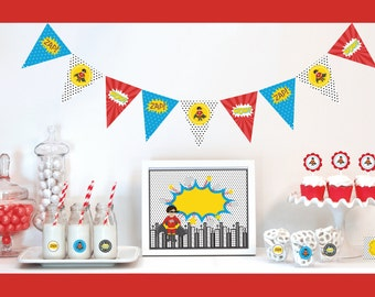 Boy 3rd Birthday Party Ideas - Super hero Party Decorations - 3rd Birthday Boy Super hero Birthday Party PACKAGE - Boy 2nd Birthday Boy