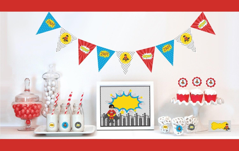 Korean Themed Party Decorations Super Hero Favors Etsy