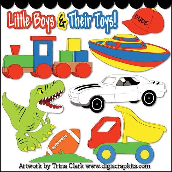 Little Boy Toys Clip Art : Toys for boys digi web studio clip art download by trina
