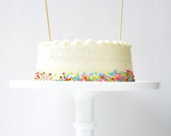 Customizable Tassel Topper // Cake Topper, Pie Topper, Cupcake Topper, Dessert Topper