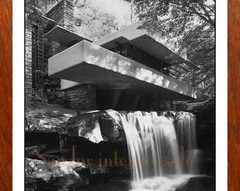 Stunning 1950's Fallingwater Photo ~ Frank Lloyd Wright 8x10