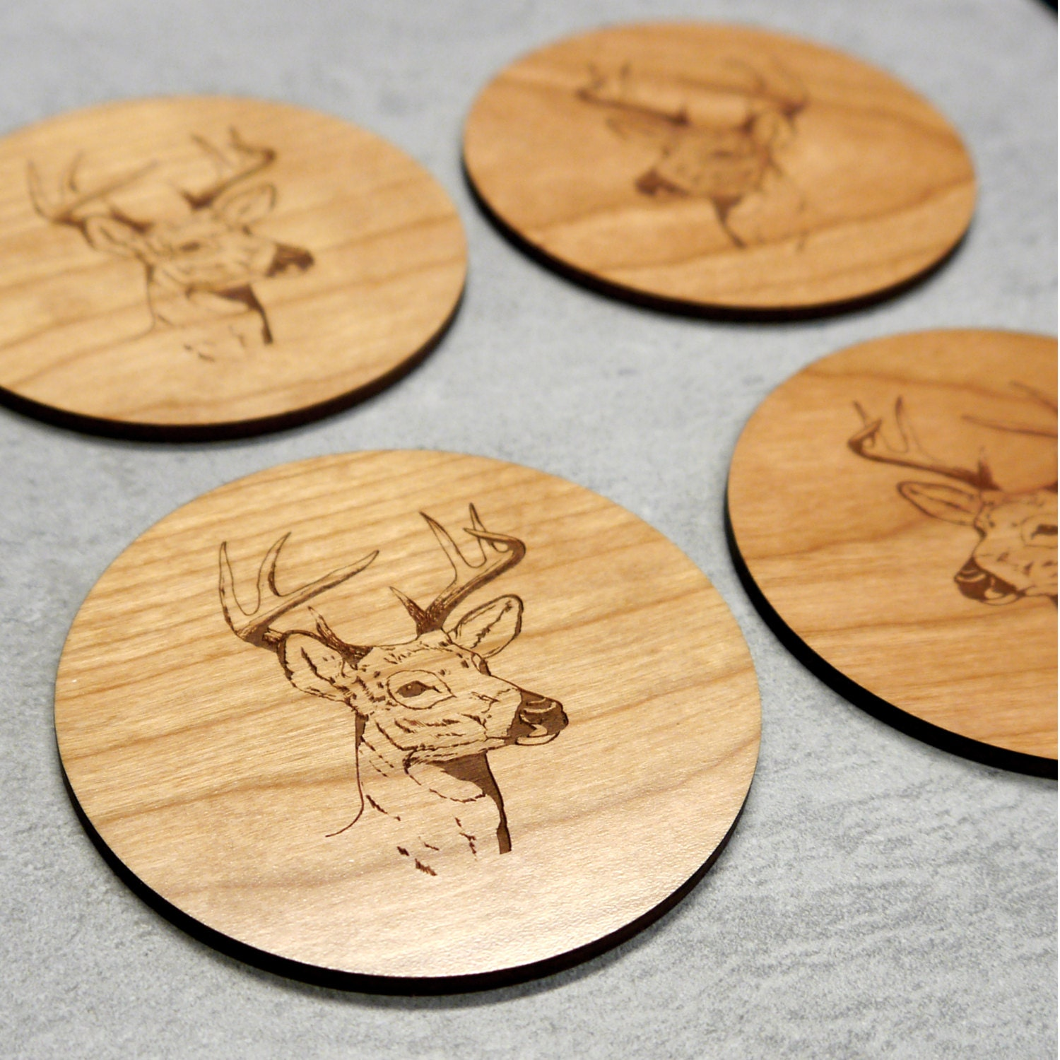 wooden coasters stag print new home gift wood coasters sustainable wood dining table sustainable wood dining table