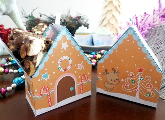 Christmas Gingerbread House Box Printable Instant Download on candy box, fireplace box, halloween box, biscotti box, tiramisu box, pig roast box, butterfly box, text box, cookie dough box, gumbo box, ornament box, church box, brownies box, panettone box, giveaway box, icing box, ginger box, cupcake house box, fudge box, rose box,