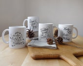 4 Holiday Mugs Collection (mixed designs)