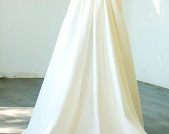 Custom made maxi Podanch wedding skirt, New Ivory/White Wedding skirt