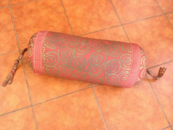 Decorative Neck Roll Pillow Pattern : swirl bolster pillow spiral neck roll designer by outbeyondborders