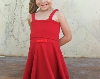PDF Girls Twirl Summer Dress Pattern, Twirl dress pattern, PDF girls dress pattern, Jersey dress pattern