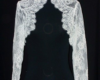 Bolero in lace from calais