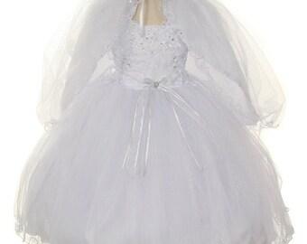Toddler Baptism Dress, baptism, christening dress, baby girl dresses, baby dress, white baptism dresses, white dress, flower dress