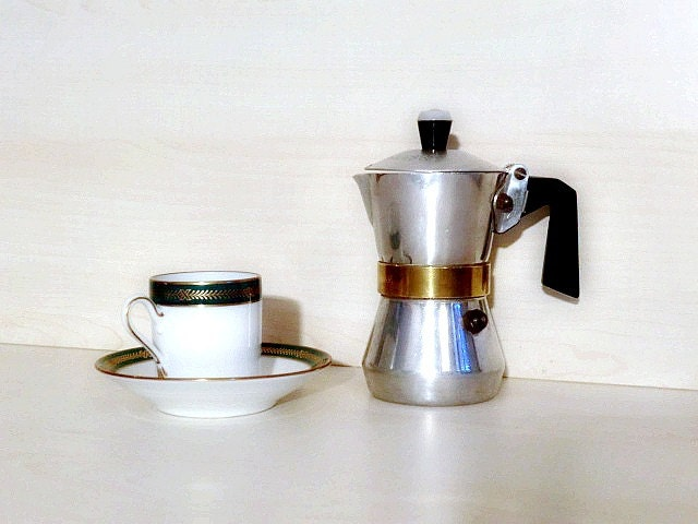 Italian Coffee Maker Small : Vintage small Italian Coffee pot moka Stella Espresso