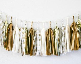 GOLDEN GLAMOUR tassel garland party decoration