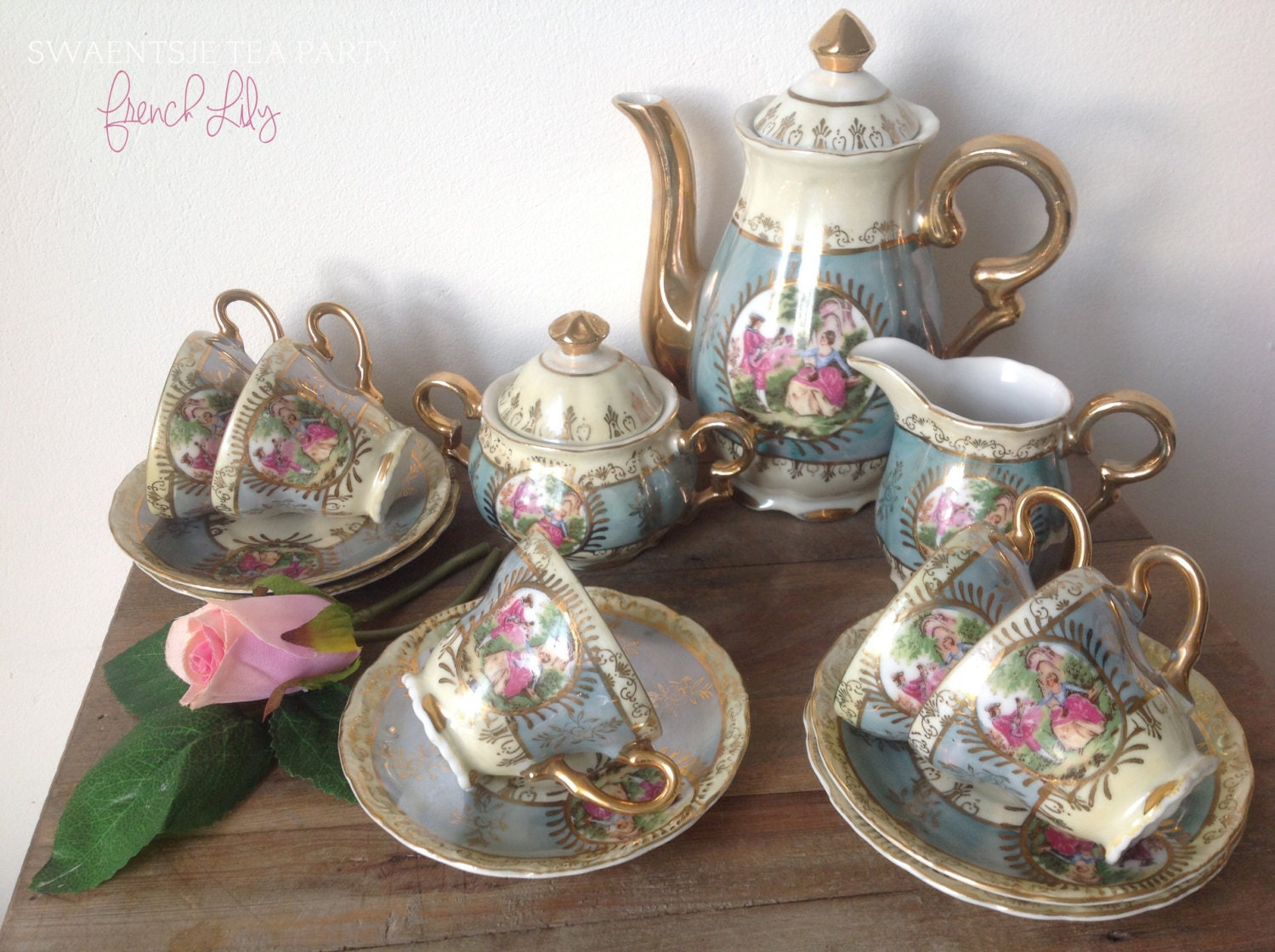 Antique Tea Set French Versailles French By SwaentsjeTeaParty