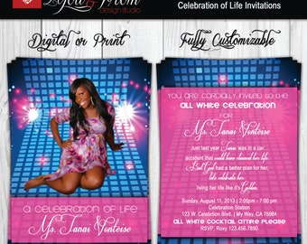 Celebration of Life Invitation - Celebrations - Invitations - Print or Digital - Fully Customizable