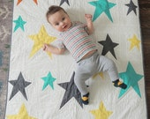 Modern Stars Unisex Baby Quilt and Playmat