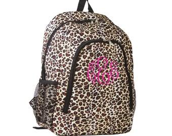 Personalized Monogrammed Backpack Cheetah Girls Children Kids Teens Tweens School
