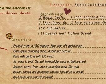 Customizable Recipe Card
