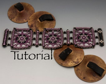 Seed Bead Lace Cuff Moroccan Melodies Tutorial Digital Download