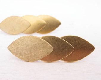 Studs earrings - long earrings - geometric jewelry - gold brass earrings -minimalist contemporary jewelry handmade jewelry by iomiss