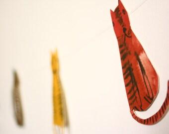 DIY kit - bunting garland paper kit - Colourful Cats