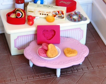 1:12 scale heart cake or Heart shaped cookie Mold/Mould for Resin, Polymer clay, Air dry Clay (Ref. 319) 1,4 cm x 1,2 cm x 0,3 cm height
