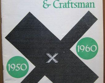 Handweaver and Craftsman, Spring 1960, Vol. 11, No. 2, Articles on Dorothy Liebes, Jack Lenor Larsen, Marli Ehrman, Trude Guermonprez