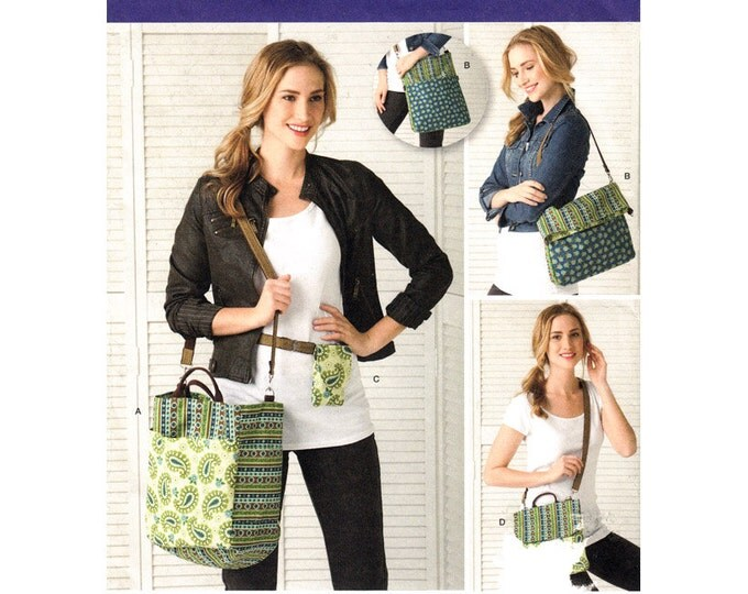 Reusable Shopping Bag Pattern Simplicity 2168 Convertible Tote, Phone Pouch, Bag, Satchel