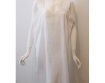 VTG Avant Garde Oversize Sheer White Tunic Top Slip Dress