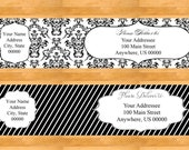 Customizable Wrap Around Address Labels - Wedding address labels