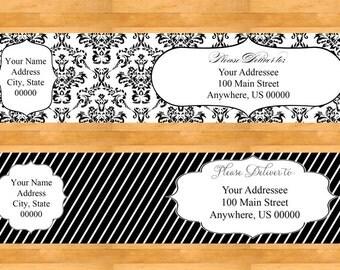 Customizable Wrap Around Address Labels - Wedding address labels