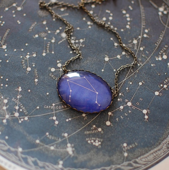 Libra Zodiac Necklace. Libra Constellation Necklace. Libra Necklace. Zodiac Sign Necklace. Zodiac Jewelry. Horoscope Necklace. Astronomy.