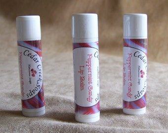 LIP BALM ~ Peppermint Candy Lip Balm ~ Natural Lip Balms