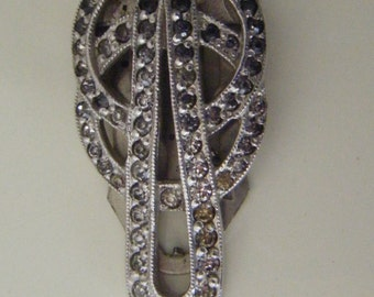 Vintage Rhinestone Fur/Shoe Clip