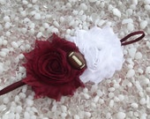 Texas A&M University Aggies Maroon and White Football Baby Headband - Newborn - Infant - Toddler - Girl - Adult - Photo Prop