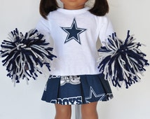 AG Doll Clothes - Dallas Cowboys Cheerleader Outfit