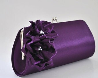 Deep Purple Clutch - Bridesmaid Clutch / Bridal clutch / Prom Clutch