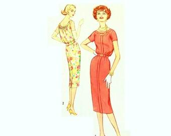 Vintage 1950s Slinky Dress Pattern Uncut Bust 34 Size 14 Simplicity 2526