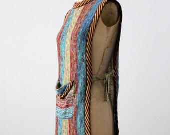 FREE SHIP  vintage tunic sweater, 70s faded glory knit sleeveless top