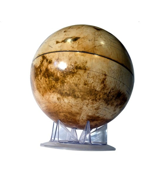 Vintage Planet Mars Globe True Color Large by BananasDesign