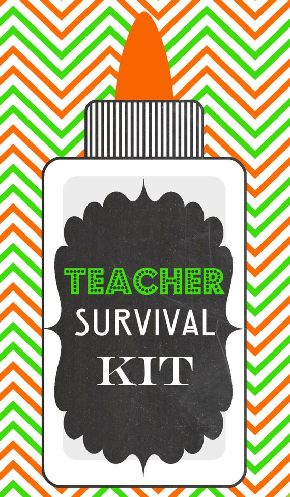 Bewitching image with teacher survival kit printable