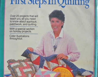 First Steps in Quilting, by Leslie Linsley, Vintage 1986