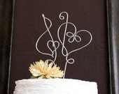 Musical Note Treble Clef Heart Wire Cake Topper