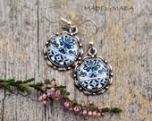 Delft blue ornament Retro look Jewelry, from MADEbyMADA