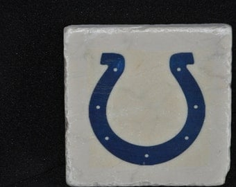 Indianapolis Colts Coasters Set of 4 handcrafted