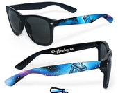 Doctor Who sunglasses - custom Wayfarer sunglasses unique hand painted - Tardis - Space - Galaxy print