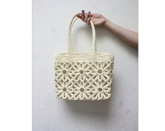 Weaved Daisy Flower Purse