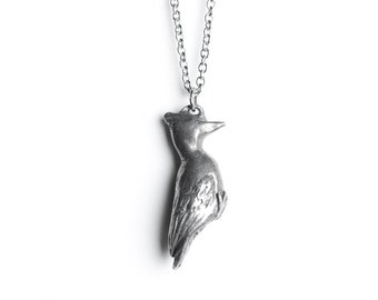 Animal Jewelry, Woodpecker Necklace, June / July Cancer Birthday